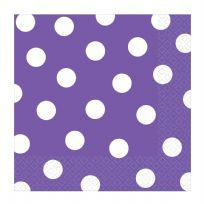 Purple Dots Paper Napkins (16)